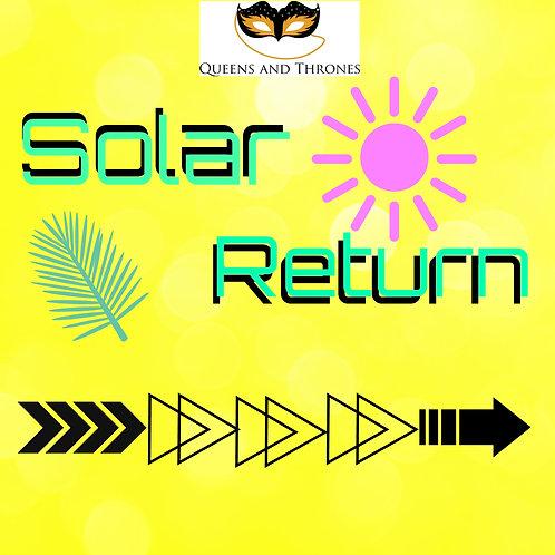 Solar Return Chart Analysis