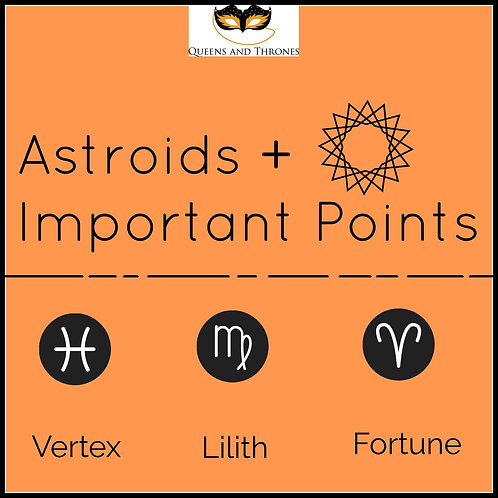 Asteroids + Important Points in the Chart Report