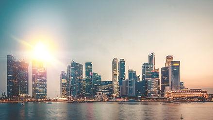 Skyline of an urban city