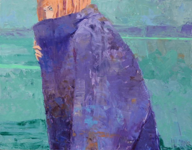 Amy Conover, Purple Cocoon, Oil on Canvas