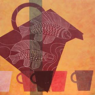 Diane Ward, Tea Ceremony, Mixed Media