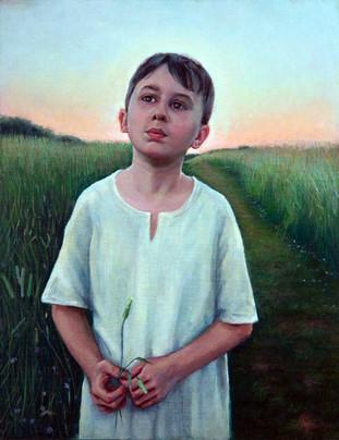 Blades of Grass, Oil on Linen Board, 11 x 14, Available through ERA Contemporary Gallery