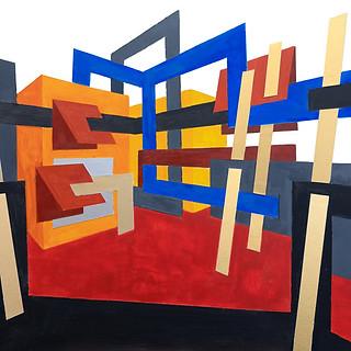 Rosemary Benivegna, Condominium, Acrylic and Paper