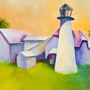 Chatham Lighthouse Remembrance, Watercolor, 13 x 20