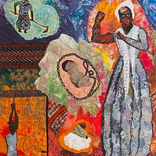 Carol Vinick, Sojourner Truth, Fabric Collage