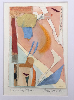 3rd Place Award, Mary Burk Smith, 'Crossing Moon', Mixed Media Collage