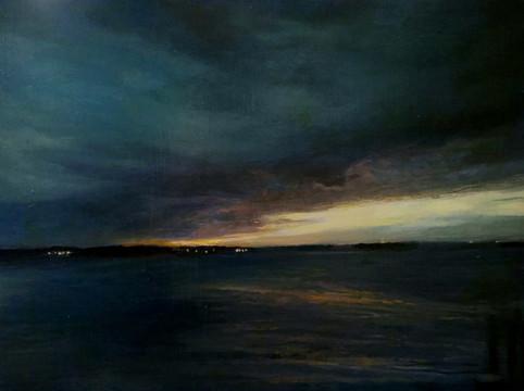Nocturne, Oil on Linen, 12 x 9