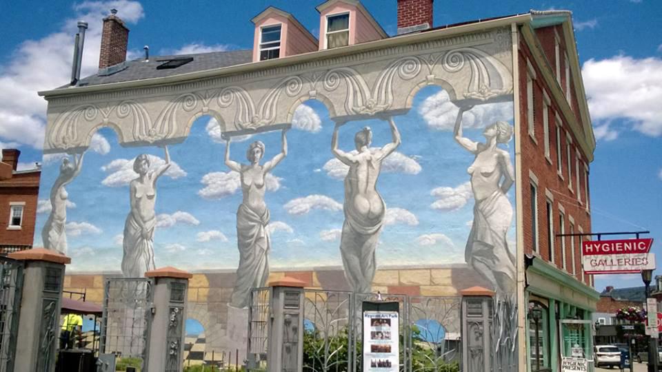 Hygeinic Arts Mural, New London, CT, Acrylic Base, 30' x 40'