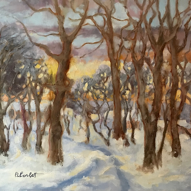 Patricia Louise Corbett, Winter's Glow, Oil