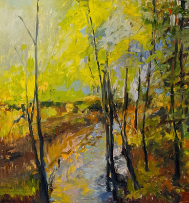 1st Place Award, Roberta Shea, 'Down by the River', oil