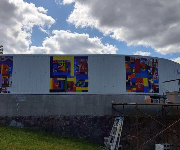 Mural, West Hartford Art League, CT
