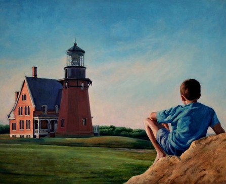 Summer Light, Block Island, Oil on Linen, 30 x 24