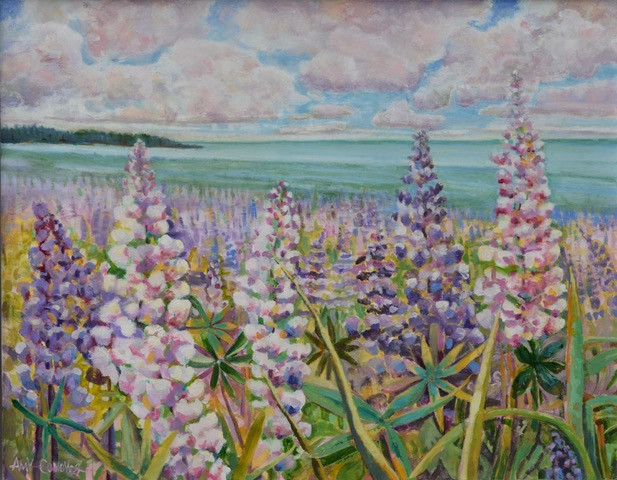 Amy Conover, Lupine, Oil on Canvas