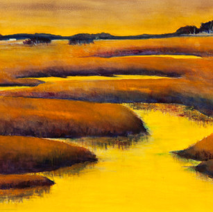 Amber Dusk #2, Watercolor, SOLD