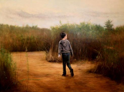 The Hay Maze, Oil on Linen, 40 x 30