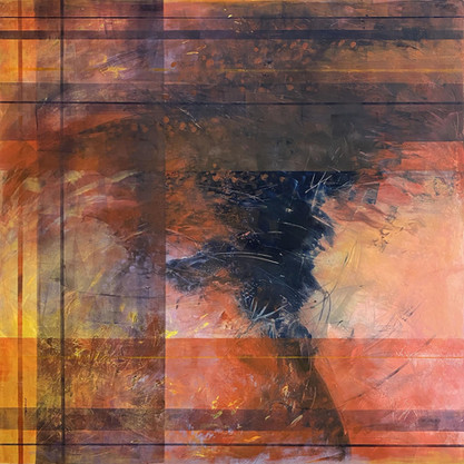 2nd Place Award, Katherine Simmons, 'Constraints', oil and cold wax