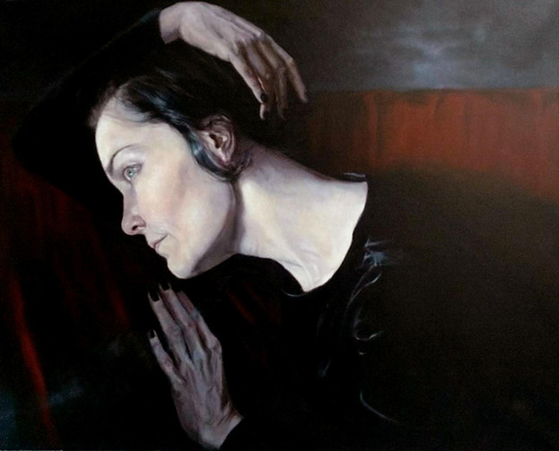 The Poet, Oil on Linen, 24 x 30, SOLD