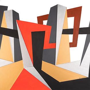 ROSEMARY, BENIVEGNA, Triangulated, Acrylic