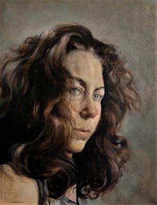 Self Portrait, Oil on Linen, 16 x 20