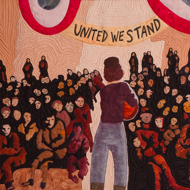 Carol Vinick, United We Stand, Fabric Collage