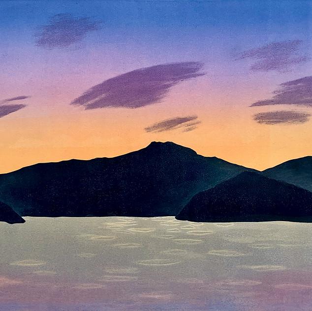 Kathleen DeMeo, Lost Cove, Monotype