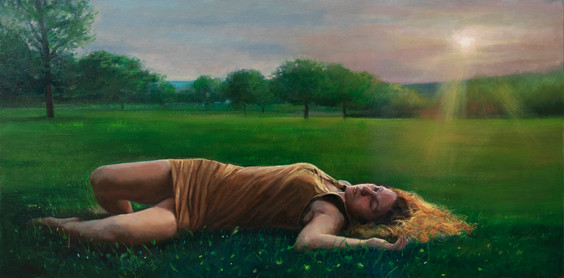 In Between Twilight, Oil, 15 x 30, Available through 33 Contemporary, Artsy