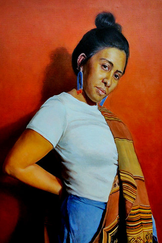 American Woman, Oil, Available through 33 Contemporary, Artsy https://www.artsy.net/artwork/sarah-warda-american-woman