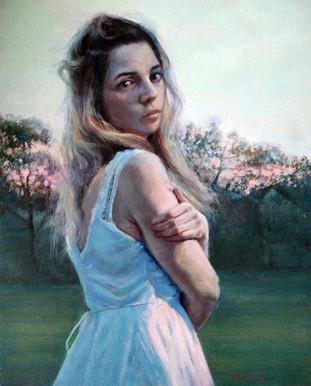 Faye, Oil, 8 x 10, Available Through 33 Contemporary, Artsy https://www.artsy.net/artwork/sarah-warda-faye