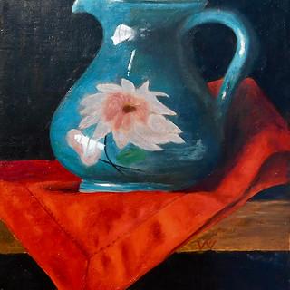 Veronique Fournier-Wynne, Blue Vase, Oil