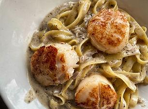 Truffle Pasta Cream Sauce Seafood Dinner Luxury Oil