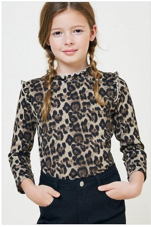 Leopard Ruffle Shirt