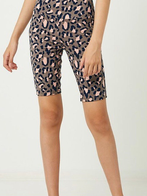 Leopard Biker Short