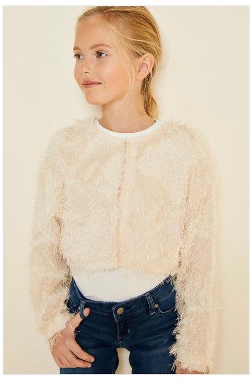 Cropped Eyelash Sweater