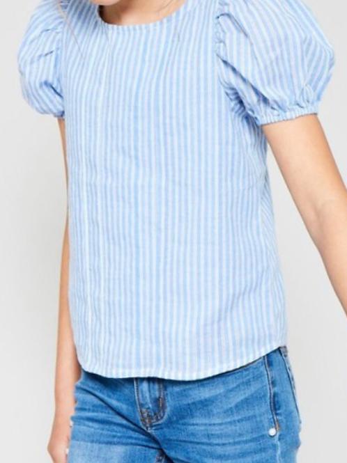 Puff Sleeve Stripe Top