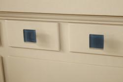 Blue glass tiles