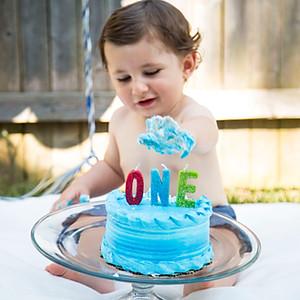 Nathan's First Birthday Cake Smash!