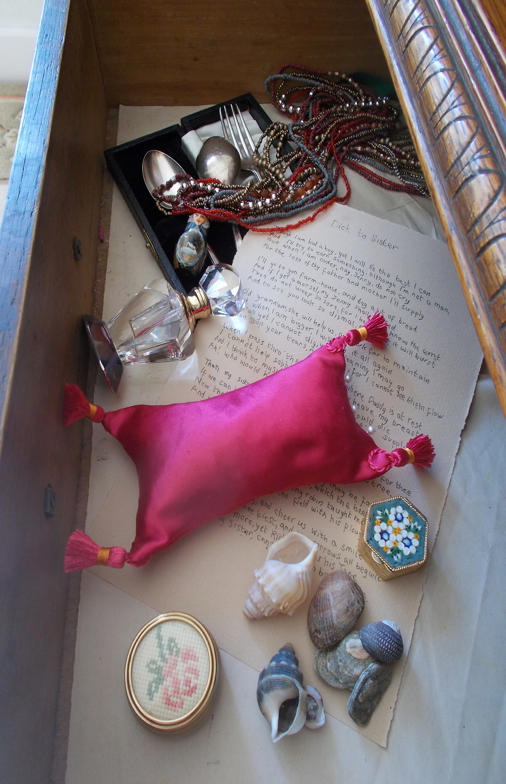 Pin Cushion in a drawer