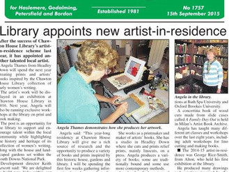 Chawton House Library Artist in Residence