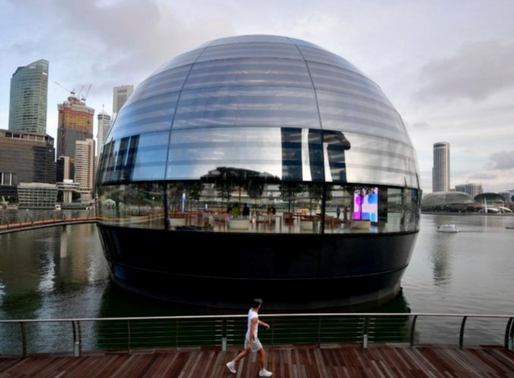 Apple's floating glass store in Singapore