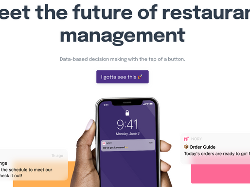 As UK lockdown eases, Nory bags £1.5M to help restaurants manage all with AI