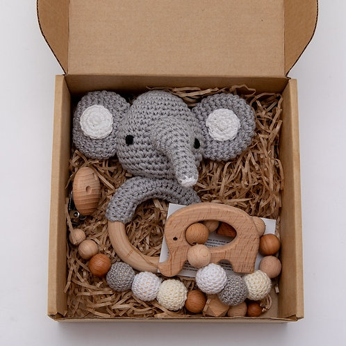 Crochet Animal Rattle and Teething accessories Present