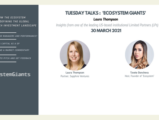 #EcosystemGiants' - Laura Thompson -  Sapphire Ventures