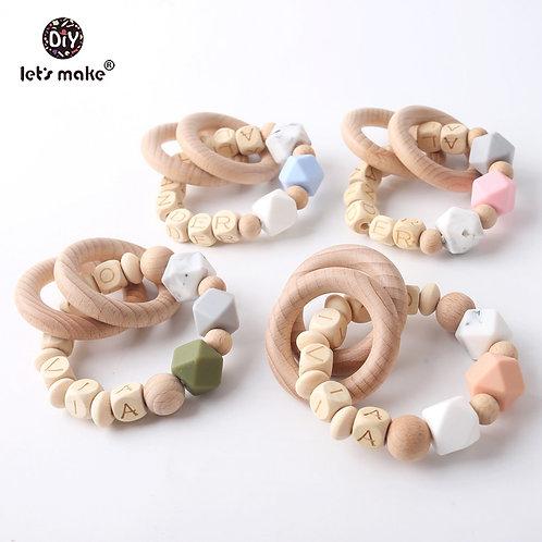 Beech Wood Baby Teething Ring