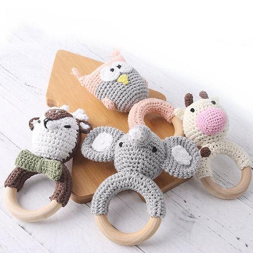 Wooden Animal Baby Teething Rings
