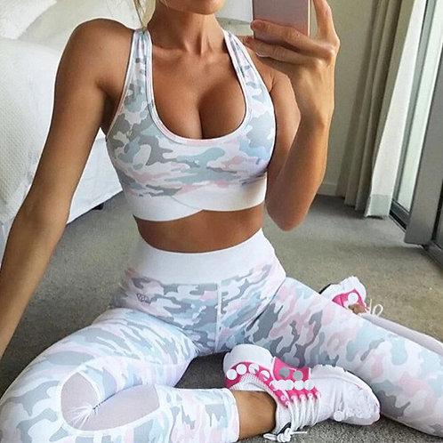 2 Pieces Yoga Set Women Workout Active Wear