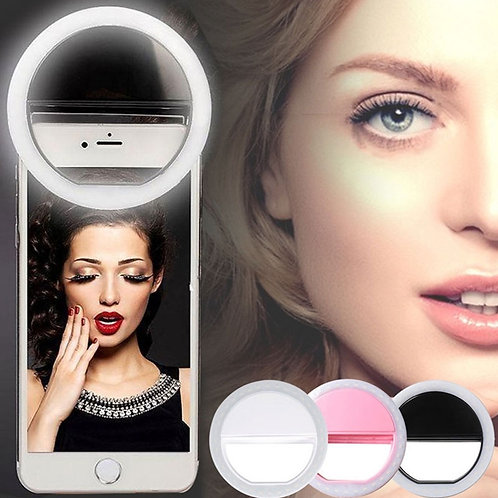 Portable Phone Selfie Lamp Selfie LED Ring Flash Luminous Camera  for Smartphone