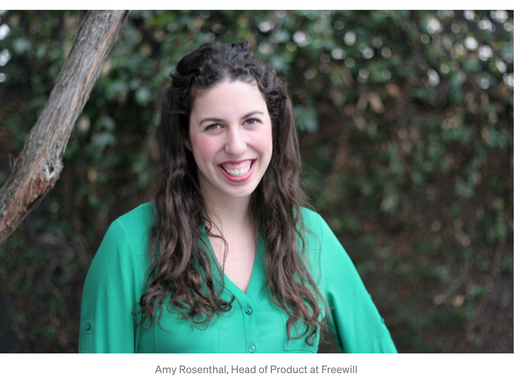 Harvard in Tech Spotlight: Amy Rosenthal, Head of Product at FreeWill