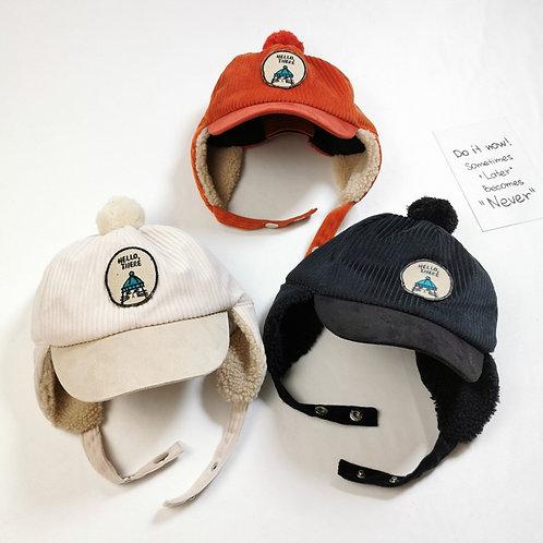 Baby Boy Warm Plush Hat Kids Beanies for 1-6y Children