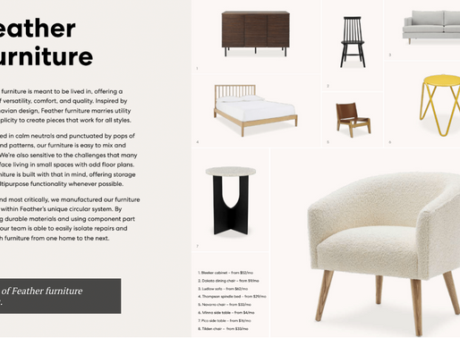 Credit Suisse Invests $30M In Feather For Urban Furniture Rental