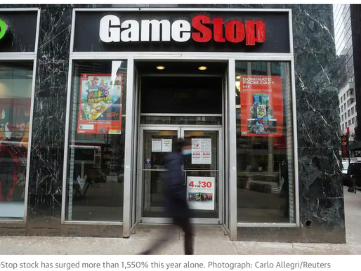 GameStop's 3 biggest shareholders earn over $2bn amid stock surge